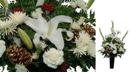 National cemetery florist winter elegance gravesite arrangement fresh flowers mightylinksfo